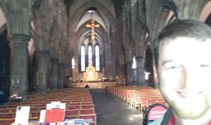 Stefan, eine Kirche, und viel zuviel Licht