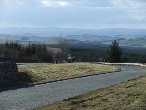Ein Blick von England aus nach Schottland